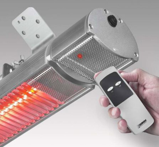 Terrasverwarmer Euromac Comfort Golden 1800 met afstandsbediening