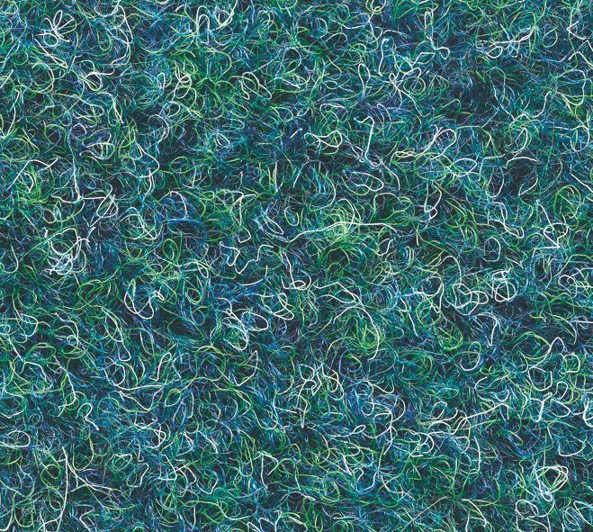 Grastapijt naaldvilt Hamat 460 Gazon 064 Blauw-groen met nop