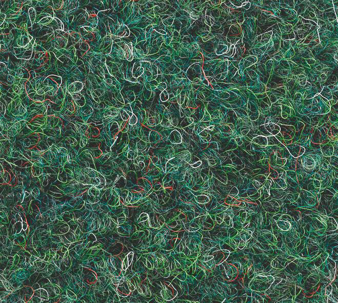 Grastapijt naaldvilt Hamat 460 Gazon 070 Groen-melee met nop