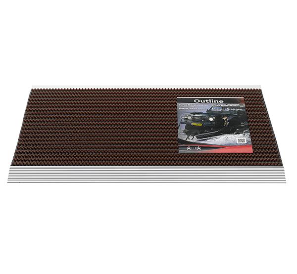 HAMAT Borstelmat 325 Outline - Deurmat - 50x80 cm - 006 Bruin