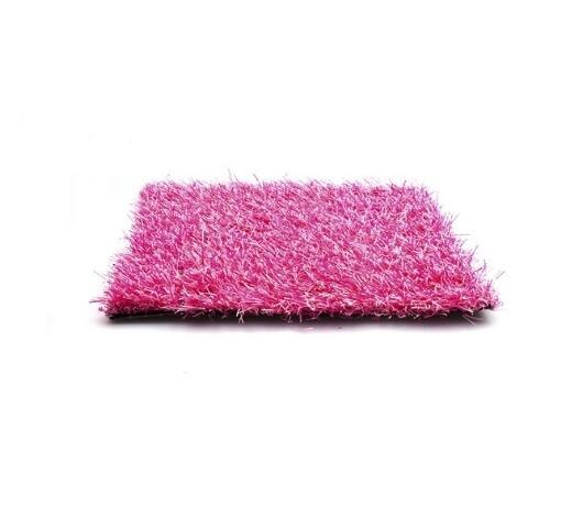 Gekleurd kunstgras 25mm Roze